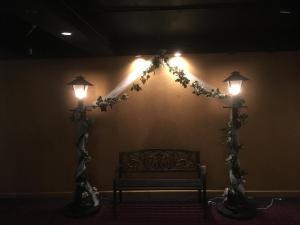 6 1/2' Lamp Post Rental  Park bench Rental