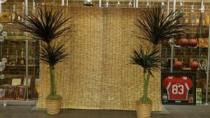 Bamboo Curtains (14' X 3')Palm Trees