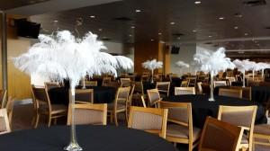 Ostrich Feathers / Great Gatsby Centerpiece Rental