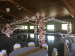 Garland dance floor
